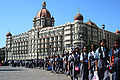 Mumbaiker school children outside Taj Mahal Hotel.jpg