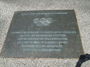 Munich massacre memorial in Munich (1).JPG