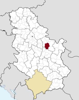 Petrovac, Serbia - Image: Municipalities of Serbia Petrovac