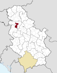 Location of the municipality of Ruma within Serbia