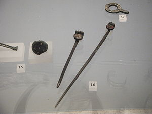 English: Museum of Scotland, pins, Iron Age