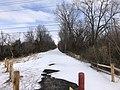 Muskogee snowstorm 2021-02-15 Centennial Trail Imman Blvd SW.jpg