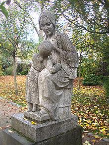 Denkmal für Catharina Elisabeth Goethe im Frankfurter Palmengarten (Quelle: Wikimedia)