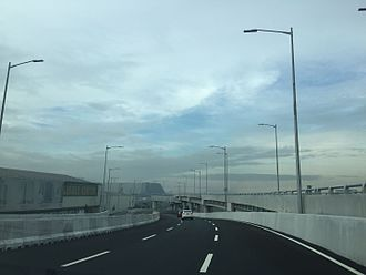 NAIA Expressway - On the Macapagal Boulevard off-ramp looking towards Okada Manila