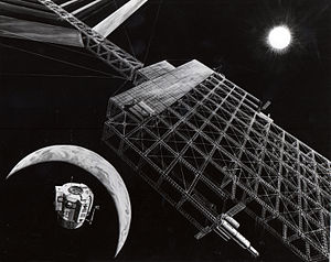 Artist's concept of Solar Power Satellite in p...