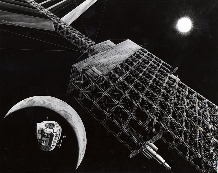 ファイル:NASA solar power satellite concept 1976.jpg