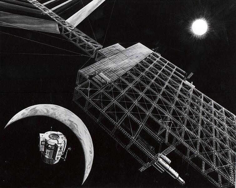 ファイル:NASA solar power satellite concept 1976.jpg