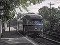 NJPSCT 7 (PCC) at Orange Street station, September 3, 1965 (22725488715).jpg