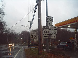 New York State Route 100B - NY 100B east at the junction with NY 100A in Greenburgh