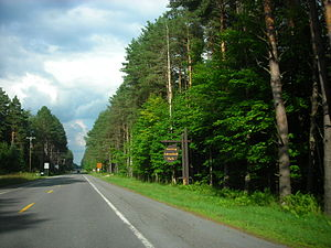 New York State Route 365 - NY 365 entering the Adirondack Park in Remsen