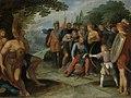 Na de val van Vetera laat Claudius Civilis zijn haar knippen, terwijl zijn zoontje enige gevangenen doodt Rijksmuseum SK-A-427.jpeg