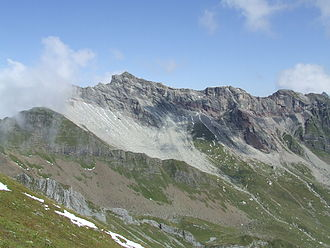 Tristel Formation - Tristel Formation near type locality. Looking at Naafkopf from SW.