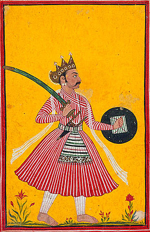 Dream portrait of Nakula, the Pandava brother, circa 1725-1750 - Pandava