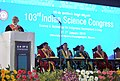Narendra Modi delivering the inaugural address at the 103rd Session of Indian Science Congress, in Mysuru on January 03, 2016. The Governor of Karnataka, Shri Vajubhai Rudabhai Vala and other dignitaries are also seen.jpg
