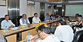 Narendra Singh Tomar at a review meeting with the expert committee for upgradation of Biju Patnaik National Steel Institute to an Institute of National Importance on Iron & Steel, in New Delhi. The Secretary.jpg
