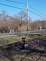 Narrow gauge railway, railway point -3, Road 12, 2020 Szob.jpg