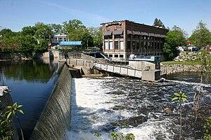 Nashua, New Hampshire - Nashua River Dam in 2006