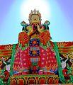 Natural halo on giant statue of Maitreya in Nubra 01.jpg