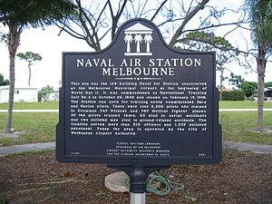 Naval Air Station Melbourne - NAS Melbourne Historical marker