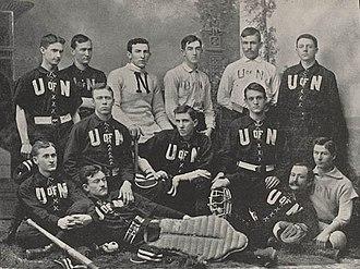 Nebraska Cornhuskers baseball - The 1892 Nebraska baseball team.