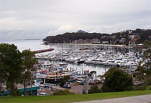 Nelson Bay, New South Wales - Looking north-east across d'Albora Marina