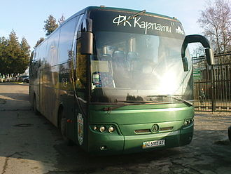 Lviv Bus Factory - NeoLAZ 12 is used by FC Karpaty Lviv.