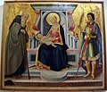 Neri di bicci, madonna col bambino in trono tra i ss. antonio abate e giuliano martire, 1470-80 ca., da s.piero in mercato.JPG