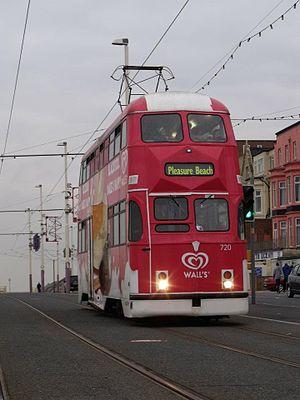 English Electric Balloon tram - Image: New Blackpool Balloon