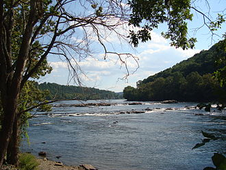 New River (Kanawha River tributary) - New River in Montgomery Co., Virginia