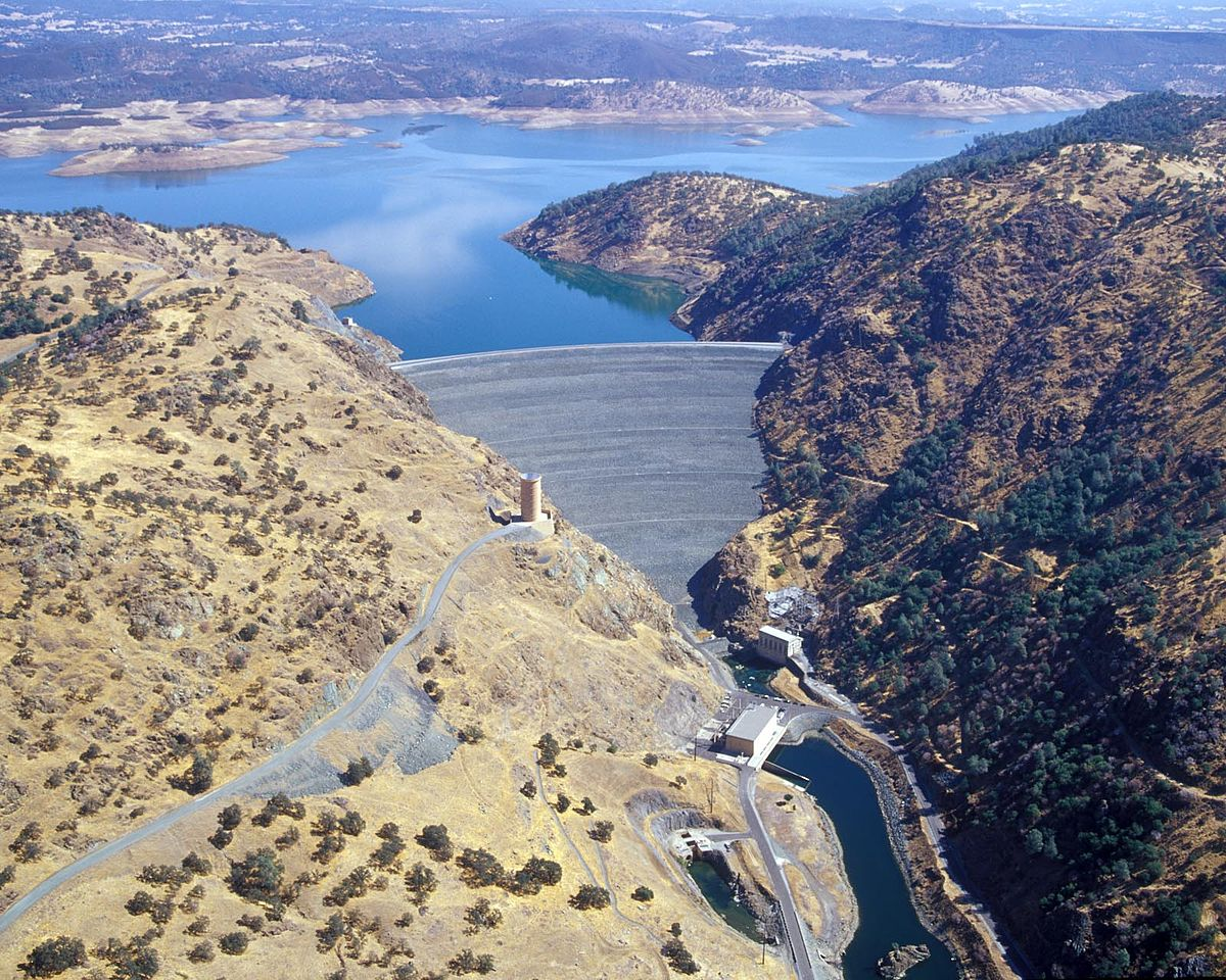 New Melones Dam Wikipedia - Map of dams in the us