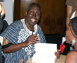 Ngũgĩ wa Thiong'o - Ngũgĩ wa Thiong'o signs copies of his book Wizard of the Crow, at the Congress Centre in central London, 2007