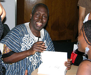 Ngũgĩ wa Thiong'o (signing autographs in London)
