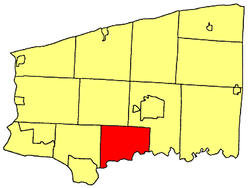 Location within Niagara County