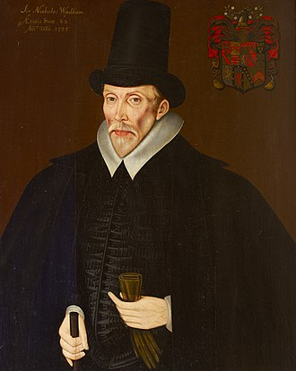 Nicholas Wadham (1531–1609) - Nicholas Wadham (d.1609), portrait c.1595 by unknown artist. National Trust, collection of Petworth House, Sussex.