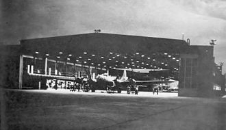 Rick Husband Amarillo International Airport - Nighttime maintenance training on a B-17 at Amarillo Army Airfield