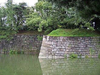 Nijō Castle - Inner walls and moat of the Nijō Castle
