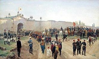 Nikopol, Bulgaria - Capitulation of Nikopol fortress, July 4, 1877