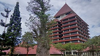 University of Indonesia - The University of Indonesia rectorate building