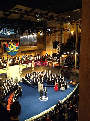 James Rothman - Nobel Prize Ceremony: James Rothman receives his award from king of Sweden.