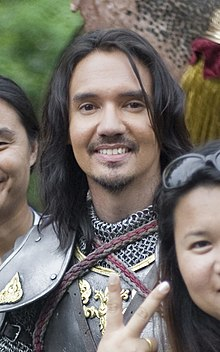 Nopachai Jayanama as Rachamanu in the set of King Naresuan.jpg