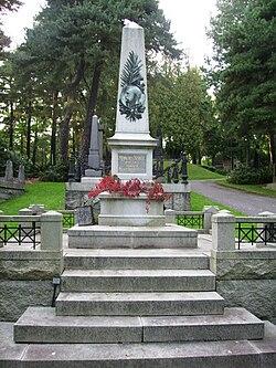 4a9806c4d811 Robert Nobels gravvård på Norra begravningsplatsen i Stockholm.