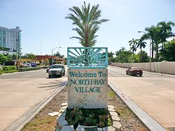 Entrance to North Bay Village on eastbound Kennedy Causeway