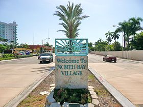 Entrée de North Bay Village par Kennedy Causeway.