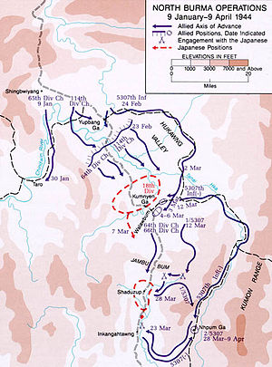 Burma Campaign 1944 - Stilwell's operations in North Burma