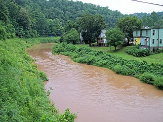 Hughes River (West Virginia) - The North Fork of the Hughes River in Cairo in 2006