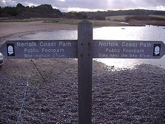 Norfolk Coast Path - Signpost at Weybourne