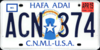 Northern Marianas license plate 1989 ACN 374.png