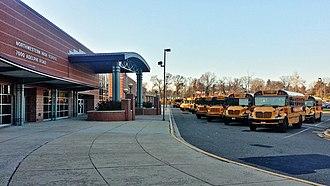 Northwestern High School (Hyattsville, Maryland) - The Northwestern High School front facade with the C-Wing in the foreground