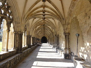 Norwich Cathedral - Interior of cloisters
