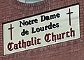Notre Dame de Lourdes Catholic Church in Price Utah Sign 3.jpg